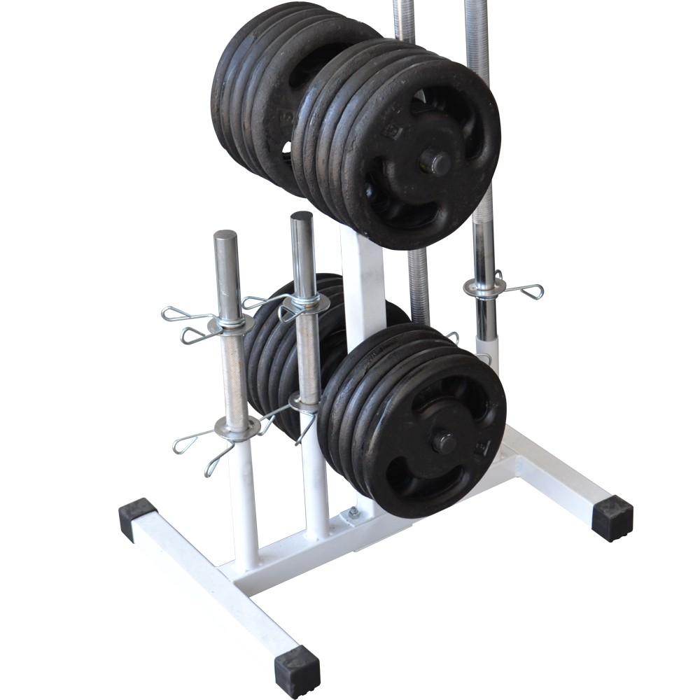 Foto 1 - Suporte Expositor Para Barras E Anilhas / Capacidade 300kg - Fitness Prado