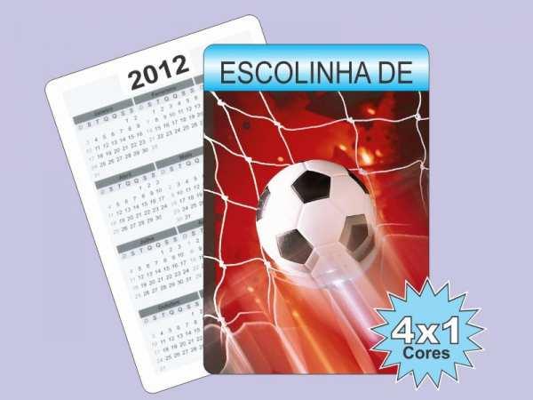 Foto 1 - 1.000 CALENDÁRIOS DE BOLSO 4X1 COR
