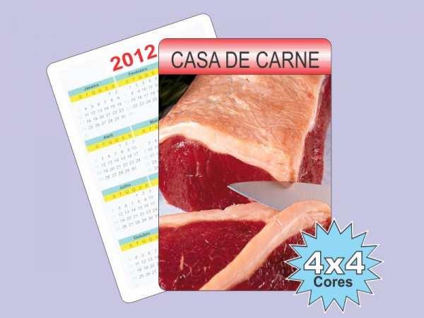 Foto 1 - 1.000 CALENDÁRIOS DE BOLSO 4x4 cor