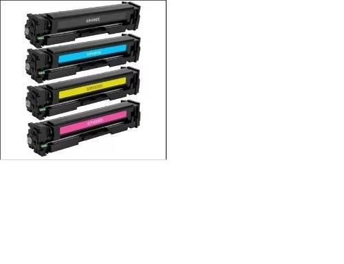 Foto3 - Kit Toner Hp 4 Cores Cf400x 201x M252dw M277dw Alto Rendim X