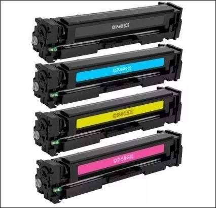 Foto8 - Kit Toner Hp 4 Cores Cf400x 201x M252dw M277dw Alto Rendim X