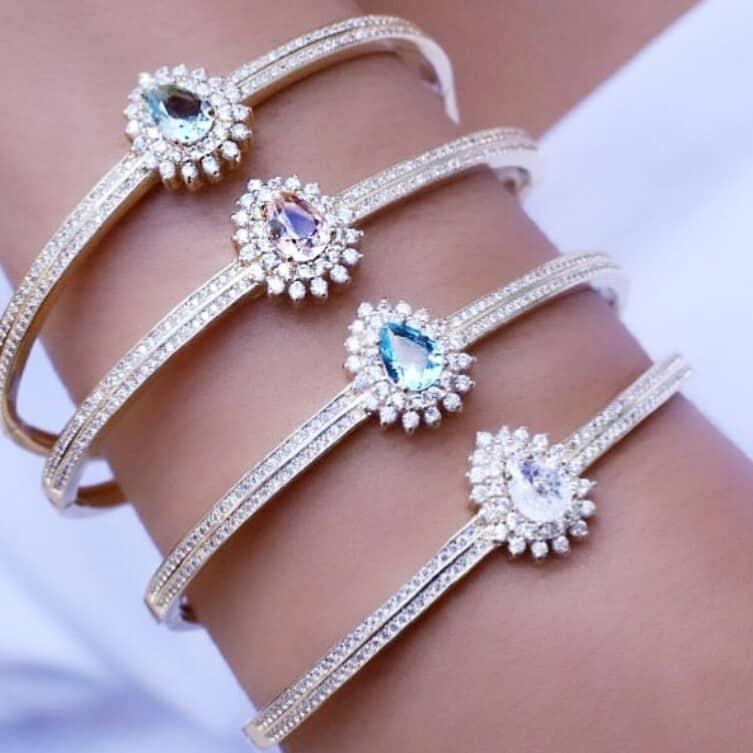 Foto 1 - Bracelete Gota Cristal Fusion e Zircônias