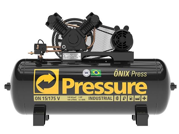 Foto 1 - Compressor de Ar 15 Pés 140PSI 175 Litros Monofásico 127/220V