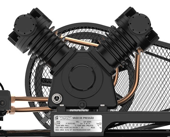 Foto2 - Compressor de Ar 15 Pés 140PSI 175 Litros Monofásico 127/220V