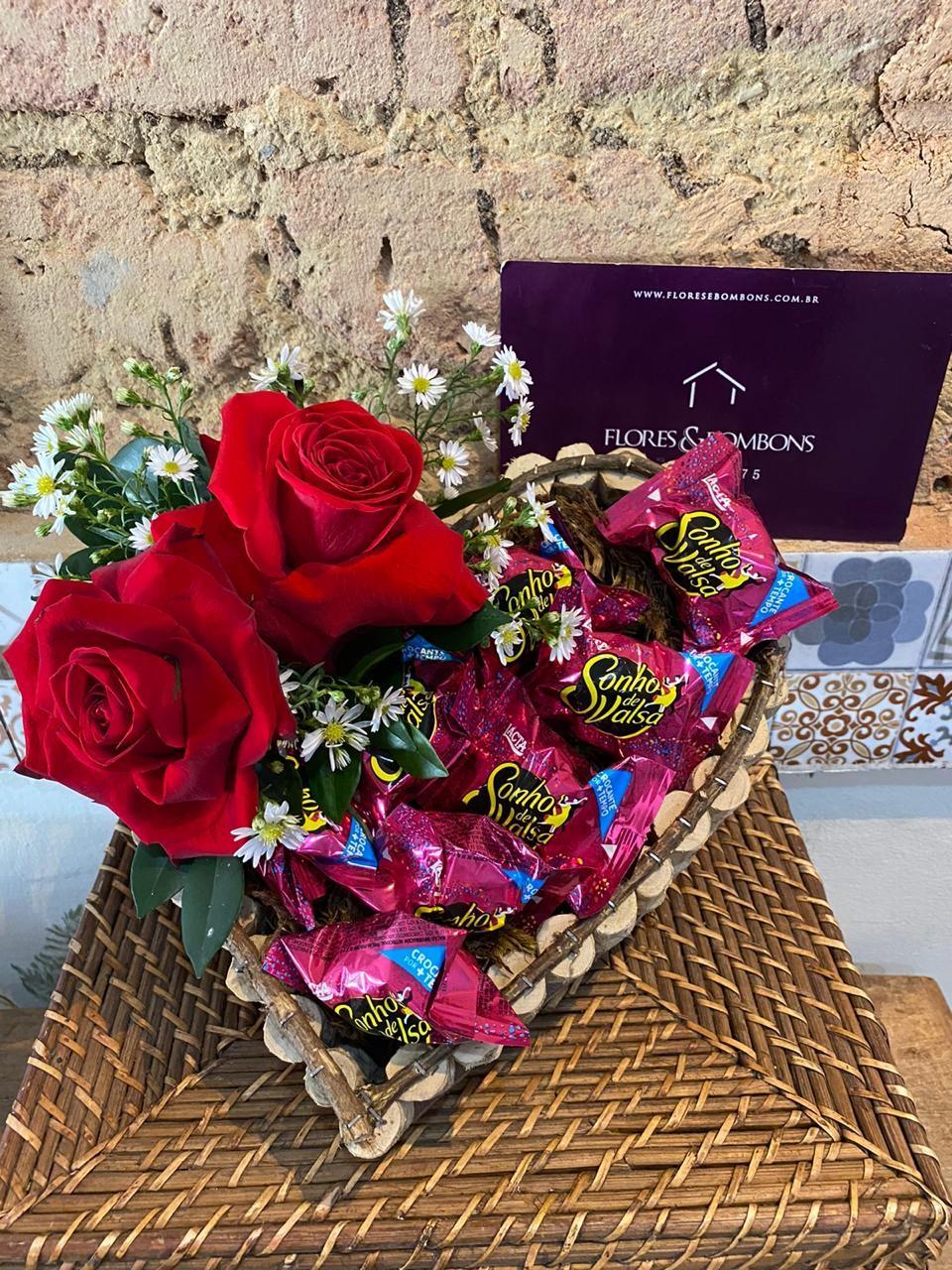 Foto 1 - Coração Sonho de Valsa com Rosas
