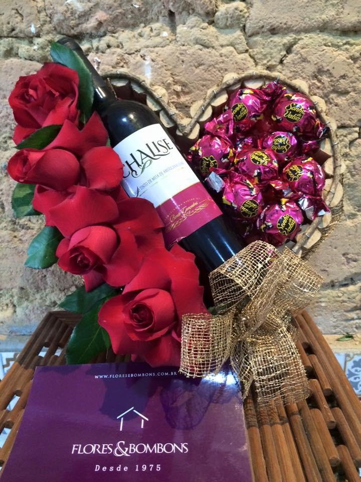 Foto 1 - Coração Vinho Bombons