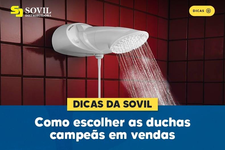Como escolher as duchas campeãs em vendas