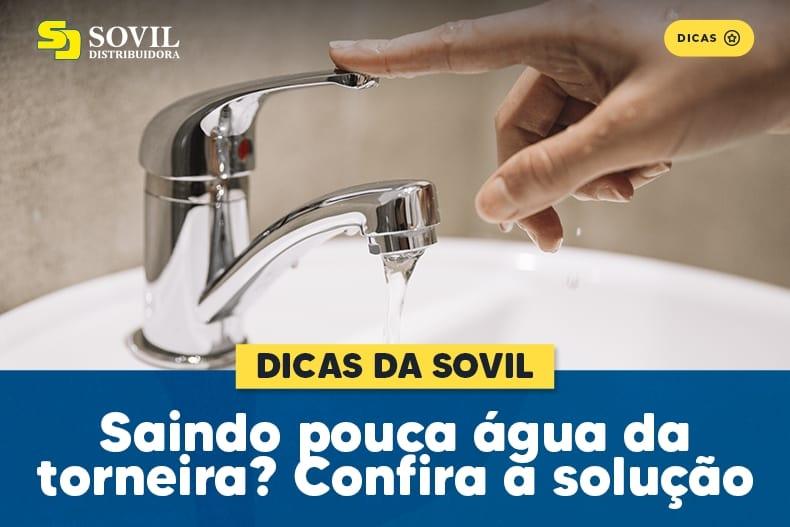 Saindo pouca água da torneira? Confira a solução