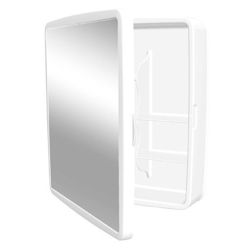 Foto 1 - Armário Para Banheiro Reversível Com Espelho Sintex