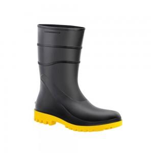 Imagem do produto Bota PVC Preta Solado Amarelo Cano Médio Com Forro Patrol  - Patrol. 04c07a0781