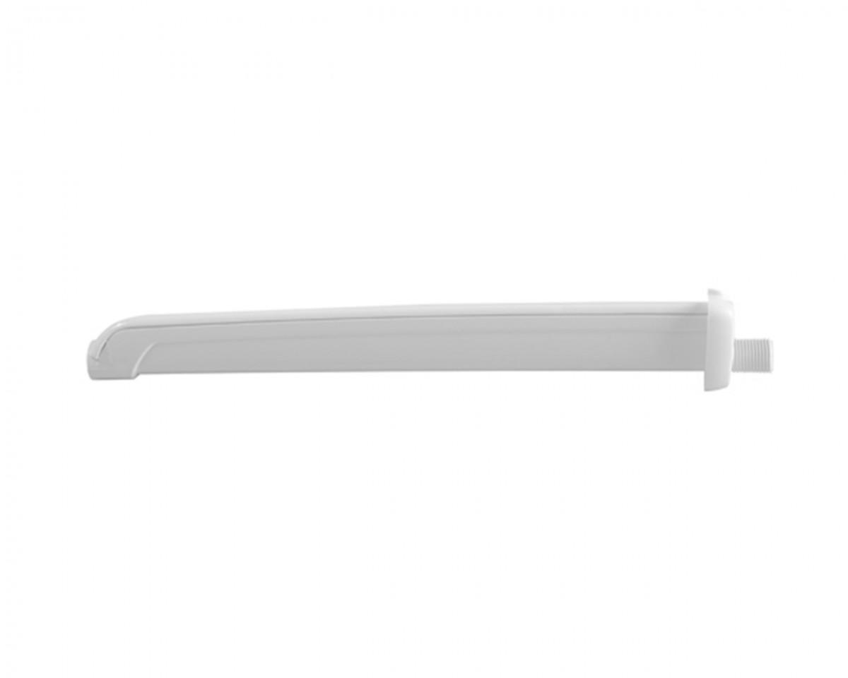 Foto 1 - Braço de Chuveiro Branco Com Capa Para Fio 40cm Astra BCE40