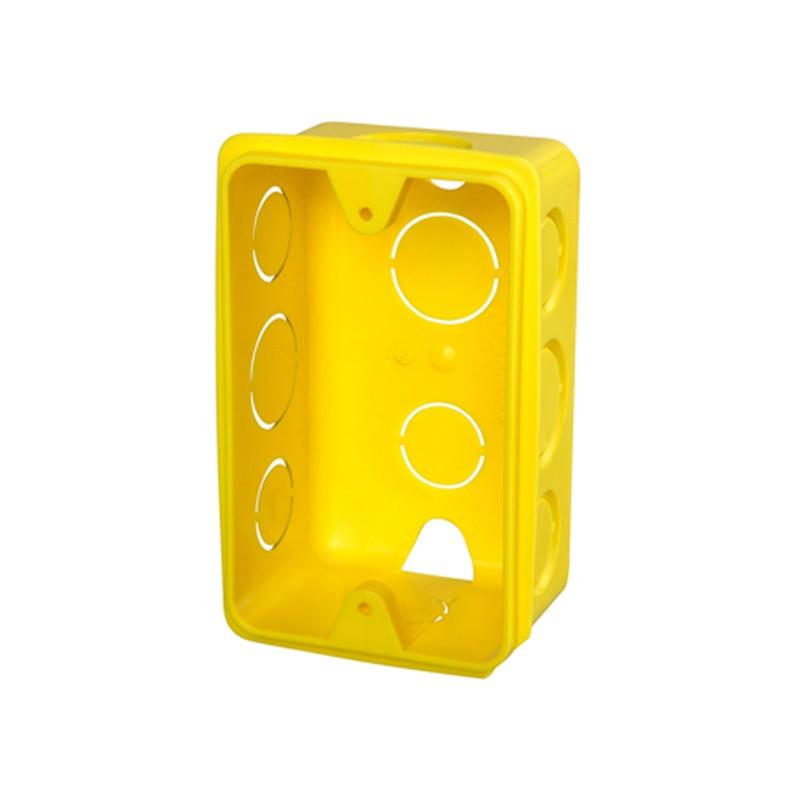 Foto 1 - Caixa de Luz PVC anti-chama amarela Krona