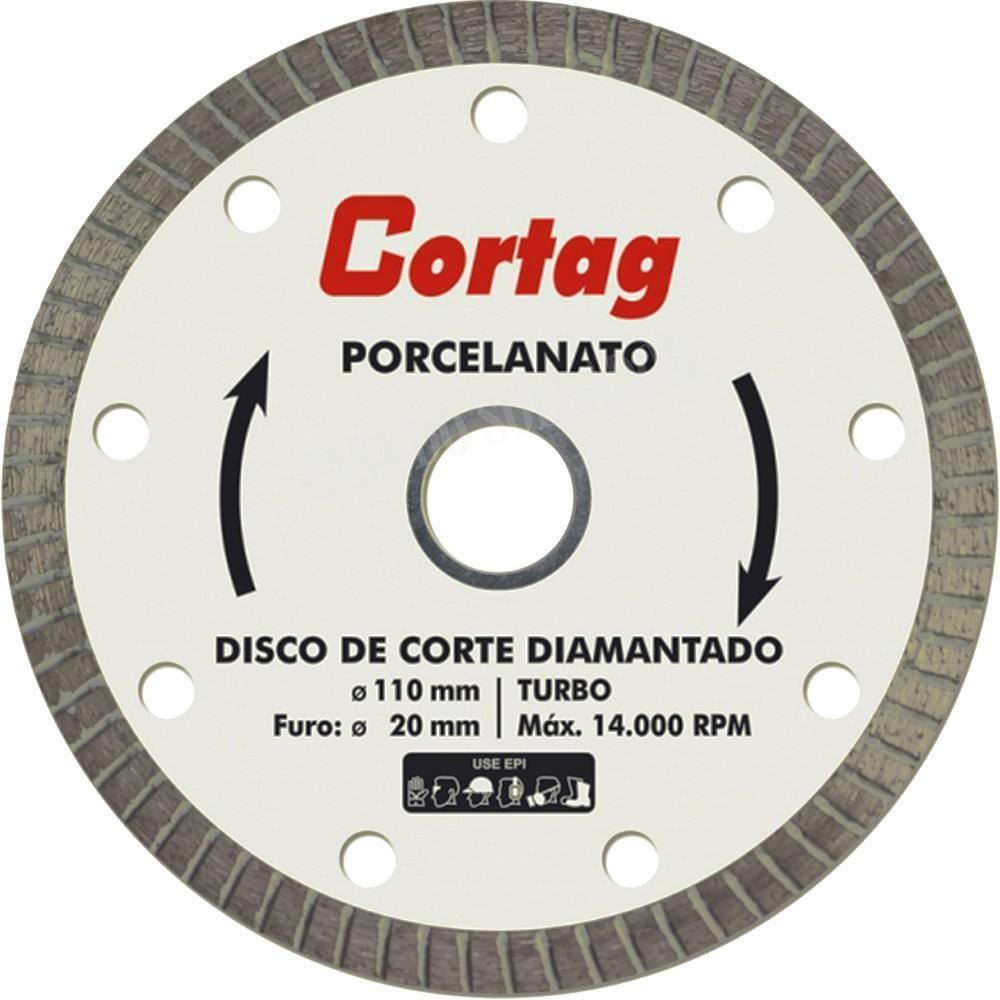 Foto 1 - Disco de Corte Para Porcelanato Turbo Seco Cortag