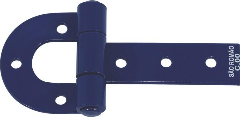 Foto 1 - Dobradiça para porteira azul São Romão