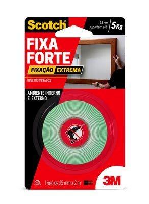 Foto 1 - Fita Dupla Face Fixa Forte 3M Interna