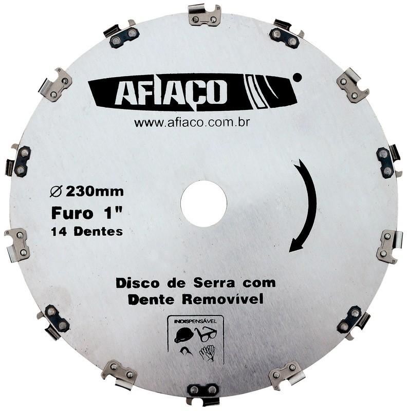 Foto 1 - Lâmina Disco Para Roçadeira Com Dente de Motossera Removivel Afiaço