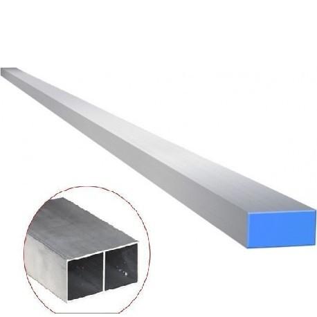 Foto 1 - Régua de Alumínio Para Pedreiro Grossa Bitubular Pesada 2 Metros 1 Kg Tampa Azul
