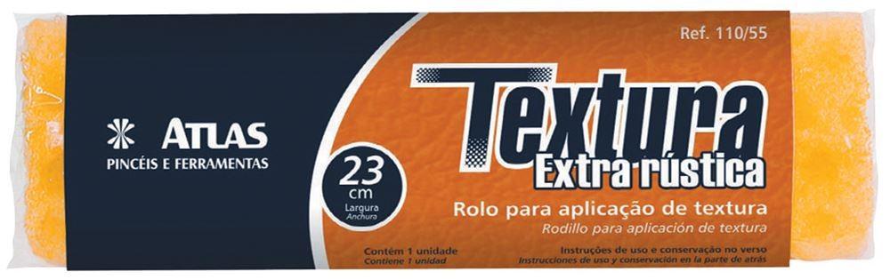 Foto 1 - Rolo Para Textura Extra Rústica Atlas 23cm 110/55