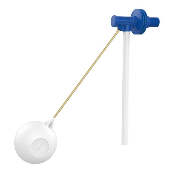 Foto 1 - Torneira Boia Para Caixa D'agua Vazão Total Com Balão Plástico 1/2 e 3/4 Blukit