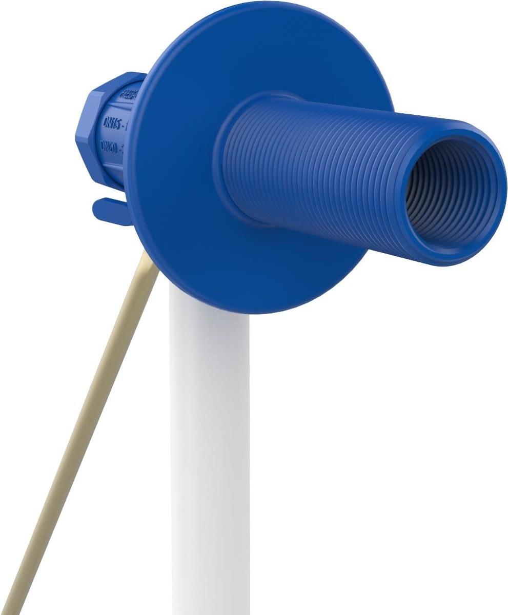 Foto2 - Torneira Boia Para Caixa D'agua Vazão Total Com Balão Plástico 1/2 e 3/4 Blukit