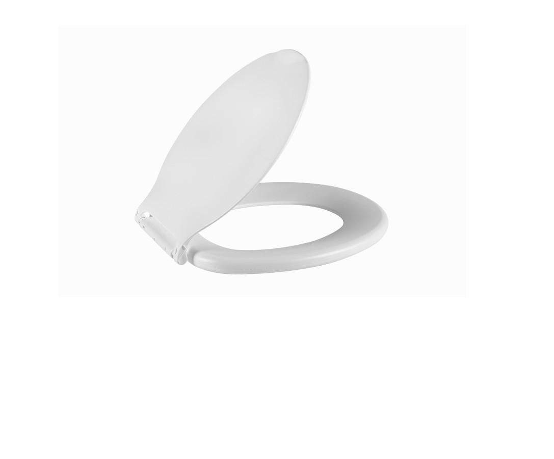 Foto 1 - Assento sanitário oval branco - Astra