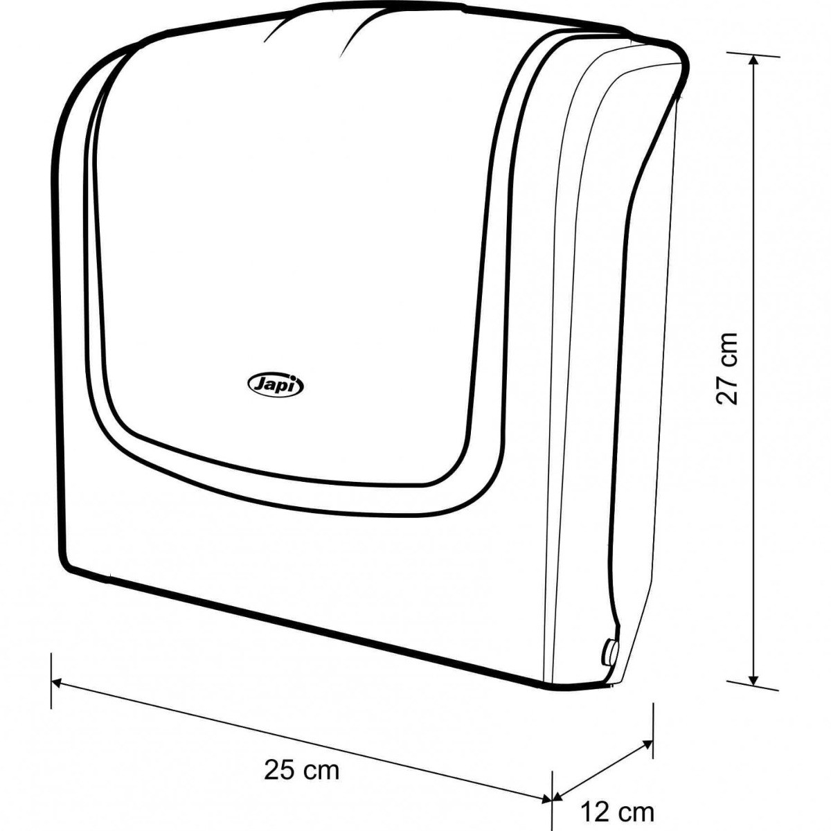 Foto2 - Porta Papel Toalha Interfolha Higiene e Limpeza - Japi