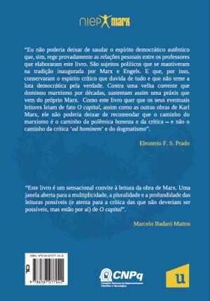 Foto3 - Para que leiam O capital: interpretações sobre o Livro I - Coleção NIEP MARX Volume VI