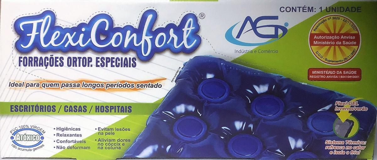 Foto2 - Almofada Forração Ortopédica Assento Gel - Encosto Inflável