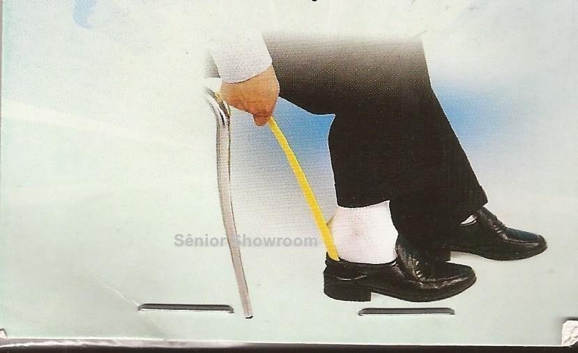 Foto2 - Kit Calçadeira de Sapatos Longa e Cadarço de Silicone Social