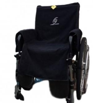 Foto1 - Kit Toalha com Braço e Pochete Interna Para Cadeira de Rodas