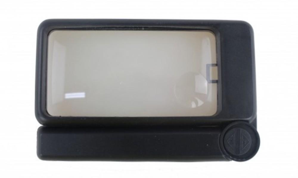 Foto2 - Lupa Retangular Retrátil com Iluminação
