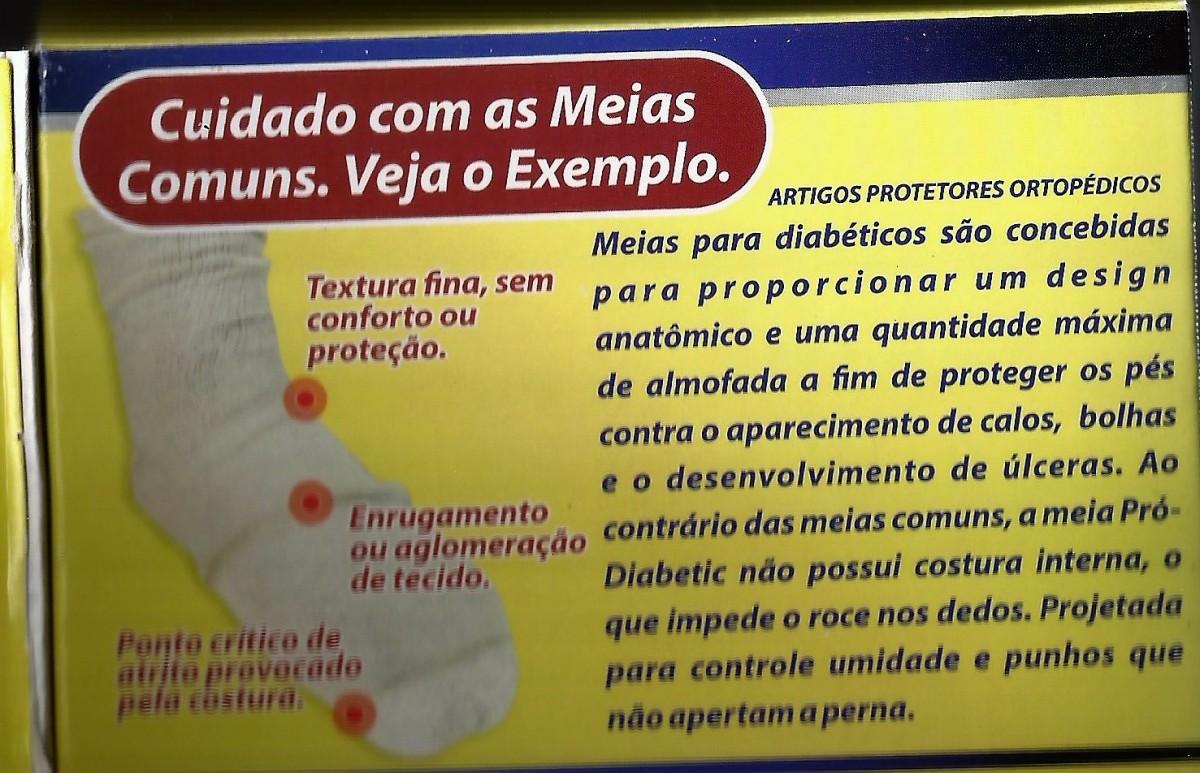 Foto4 - Meia Ortopédica para Proteção Pró-Diabetic