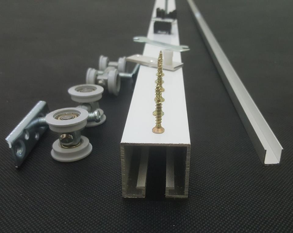 Foto 1 - Kit Para Porta de correr 4 roldanas