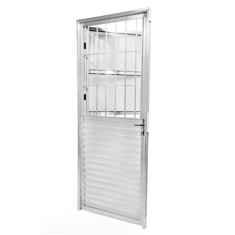 Foto2 - Porta Aluminio com Grade e Vidro