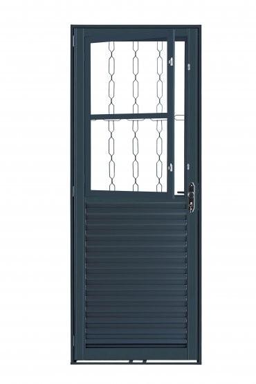 Foto 1 - Porta de Aço com Postigo e Grade Elo 210x80