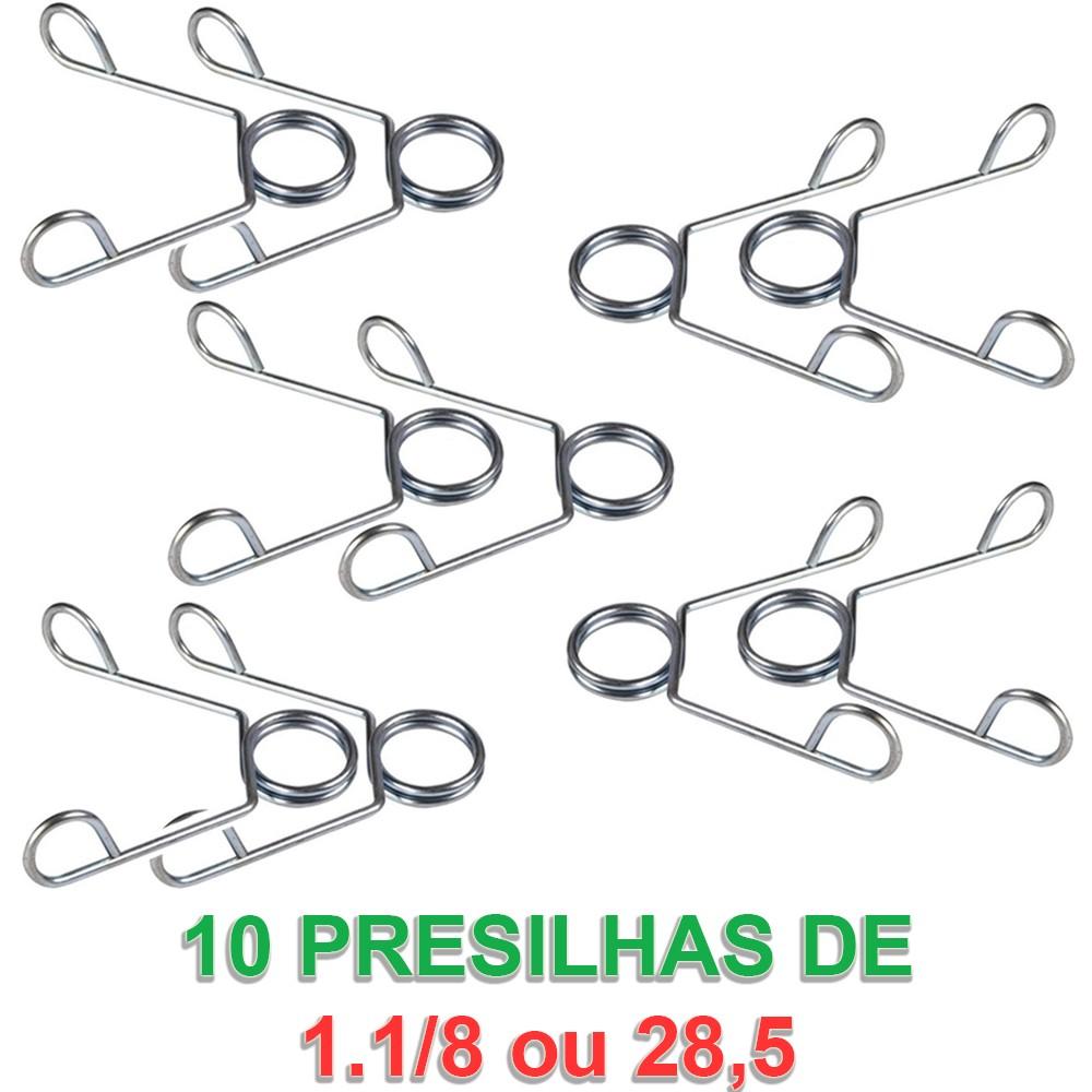 Foto 1 - 10 Presilhas / Grampo para Barra de 1.1/8 ou 28,5 mm