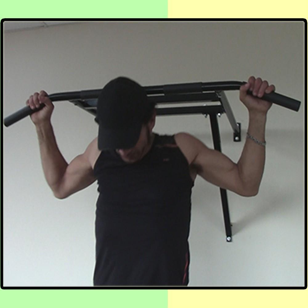 Foto 1 - Barra Fixa De Parede 2.5 para Exercícios / Treinar em Casa - Suporta 180kg - Melhor Preço e Qualidade | Halteres e Anilhas