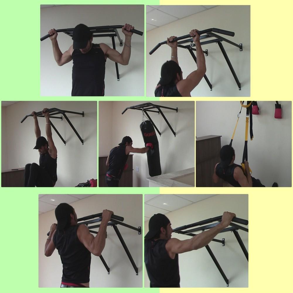 Foto4 - Barra Fixa De Parede 2.5 para Exercícios / Treinar em Casa - Suporta 180kg - Melhor Preço e Qualidade | Halteres e Anilhas