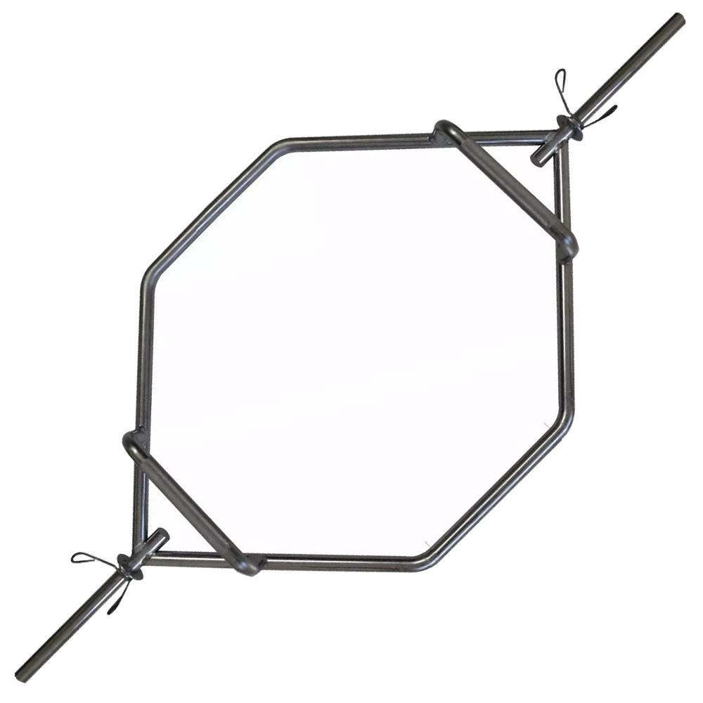Foto3 - Barra Hexagonal Maciça Cromada Barra Para Levantamento Terra - Melhor Barra | Halteres e Anilhas
