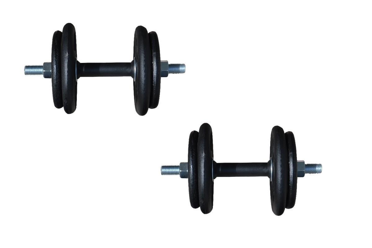 Foto4 - Kit 30Kg de Anilhas + Barras de 1,20cm e 2 de 33cm Maciças Rosqueadas + para se Treinar. Menor Preço | Halteres e Anilhas