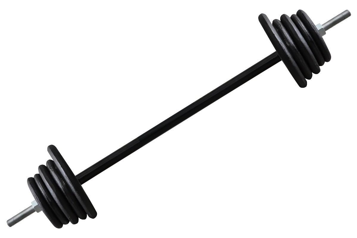 Foto5 - Kit 30Kg de Anilhas + Barras de 1,20cm e 2 de 33cm Maciças Rosqueadas + para se Treinar. Menor Preço | Halteres e Anilhas