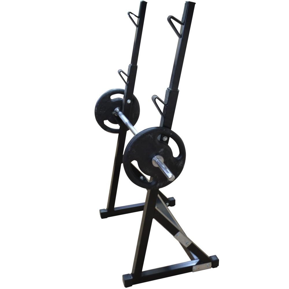 Foto4 - Kit Suporte Cavalete Supino, Bíceps com Barras, 40kg De Anilhas E Banco Livre - Halteres e Anilhas
