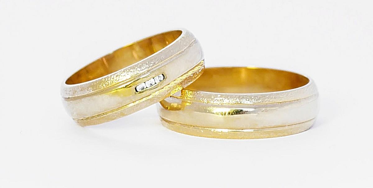 Foto2 - Aliança de Casamento Camila em Ouro 18K (11g 6,0mm)