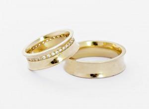 Aliança de Casamento Concava em Ouro 18K (15g 6,0mm)