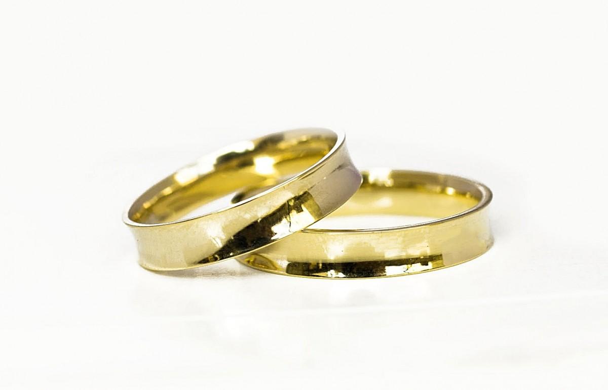 Foto 1 - Aliança de Casamento Concavo em Ouro 18K (7g 4,0mm)