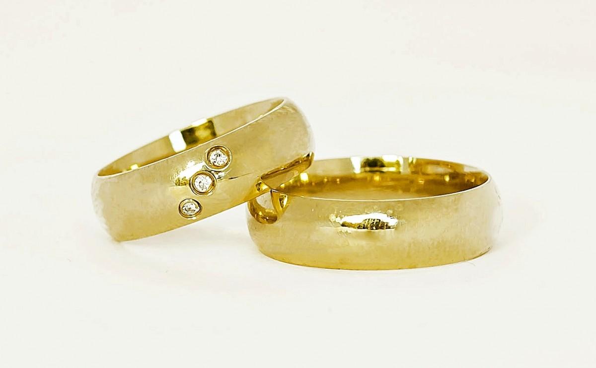 Foto 1 - Aliança de Casamento em Ouro 18K (14g 6,0mm)