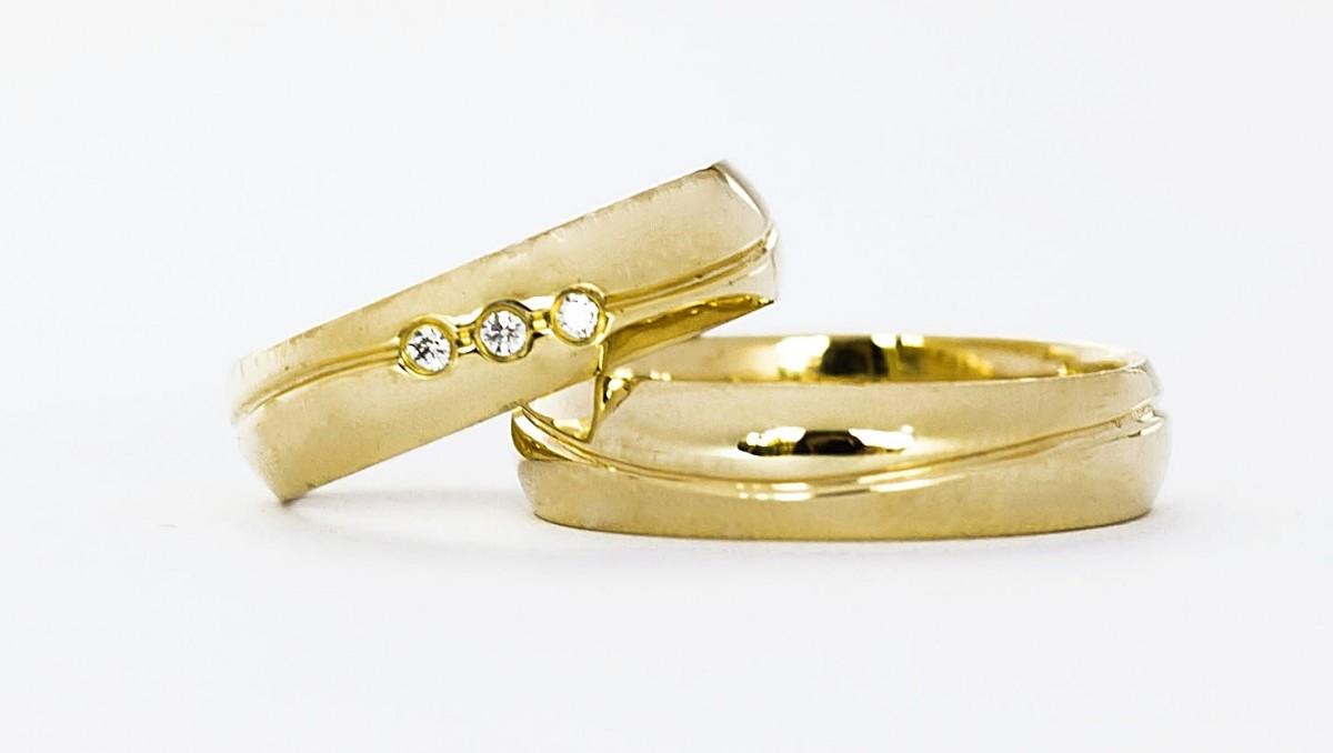 Foto 1 - Aliança de Casamento em Ouro 18K 38050.3p(8g 5,0mm)