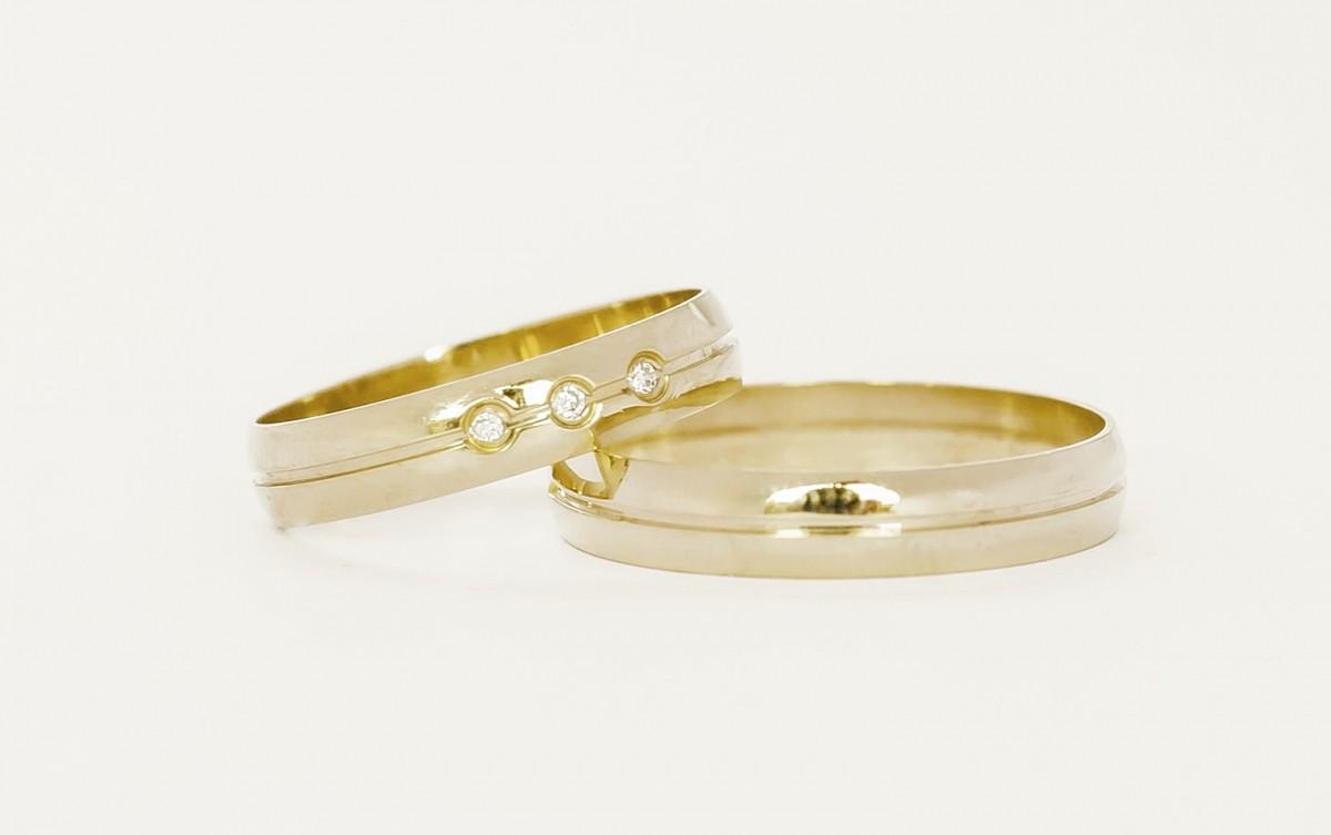 Foto 1 - Aliança de Casamento em Ouro 18K (4g 3,7mm)