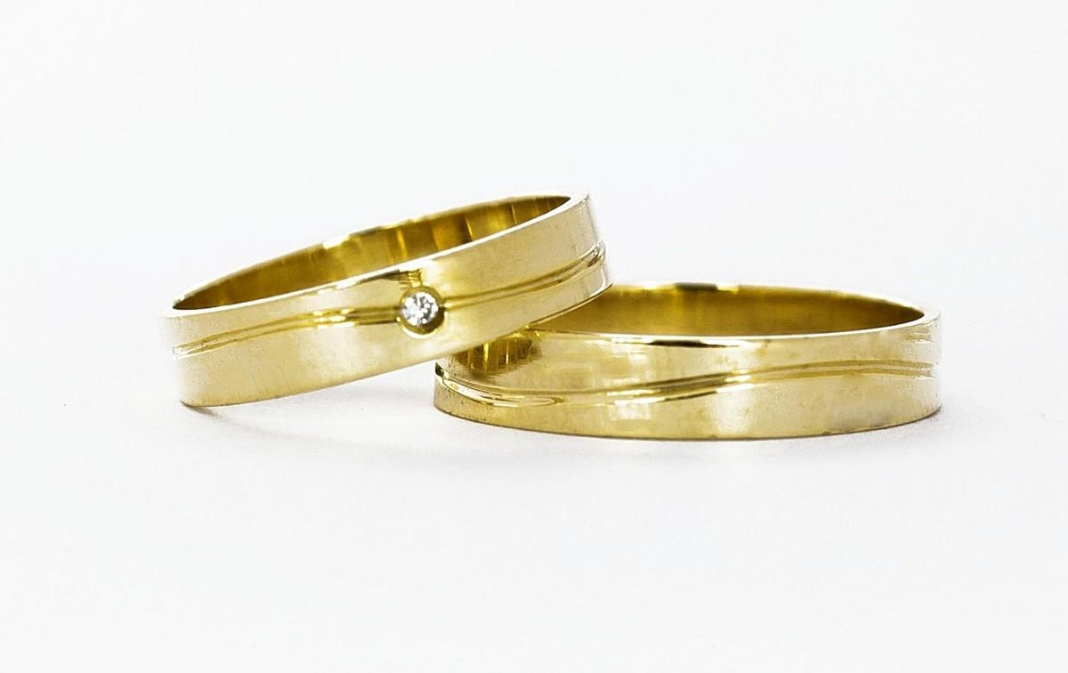 Foto 1 - Aliança de Casamento em Ouro 18K (6g 3,9mm)