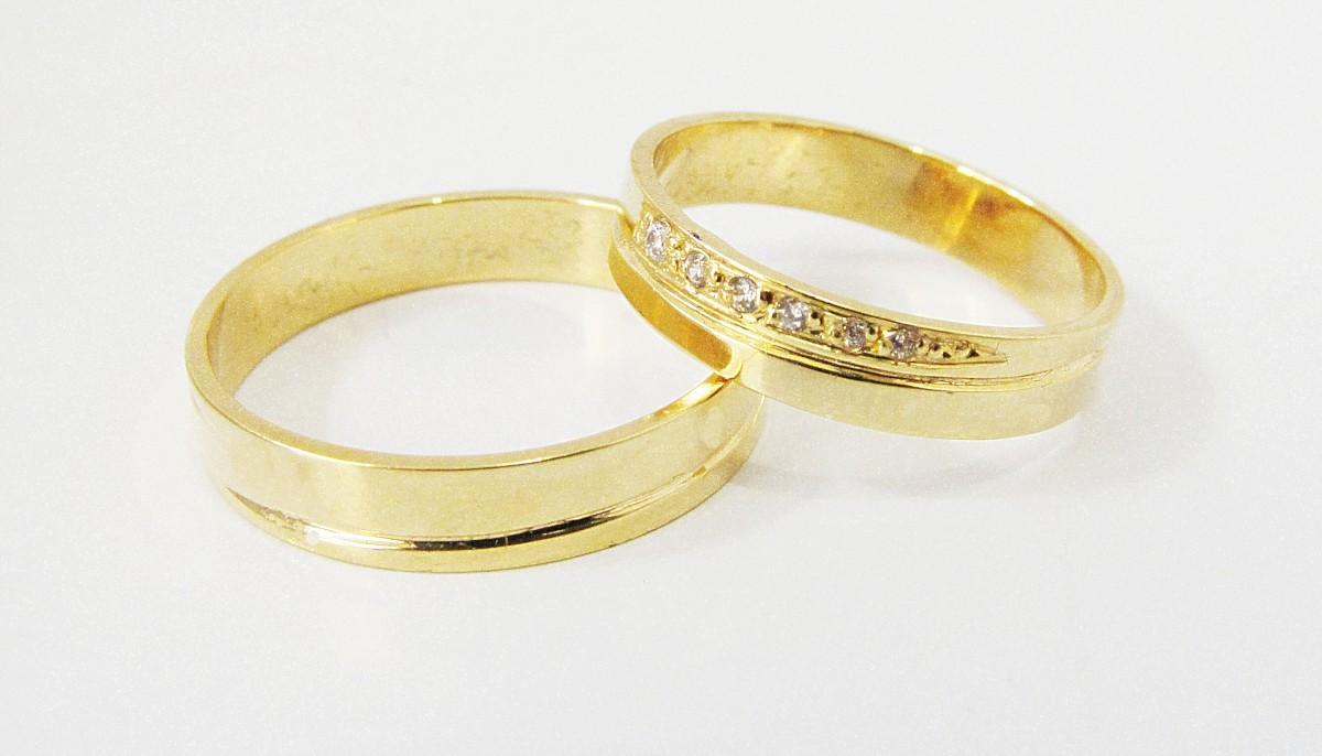 Foto 1 - Aliança de Casamento em Ouro 18K (7g 4,0mm)